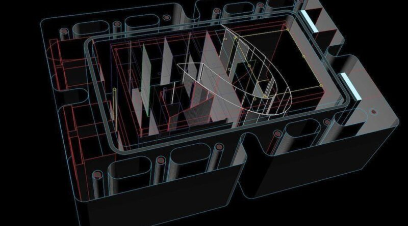 Andrea Pivetta has published renders of a liquid-cooled 100-watt OIO amplifier