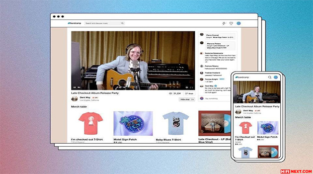 Bandcamp has launched paid online concerts