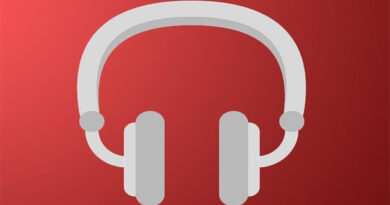 full-size Apple headphones