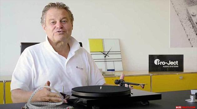 Heinz Lichtenegger (Pro-Ject) shared tips for improving the vinyl system