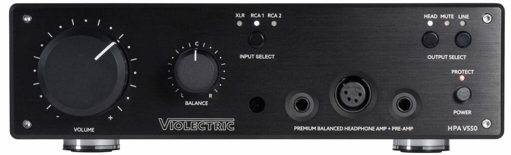 Violectric HPA V550 and HPA V550 PRO Headphone Amplifiers
