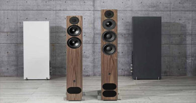 PMC fact 8 and 12 Signature speakers come in walnut finish