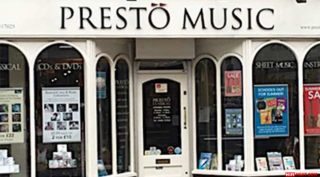 Presto Music has a built-in streaming audio player