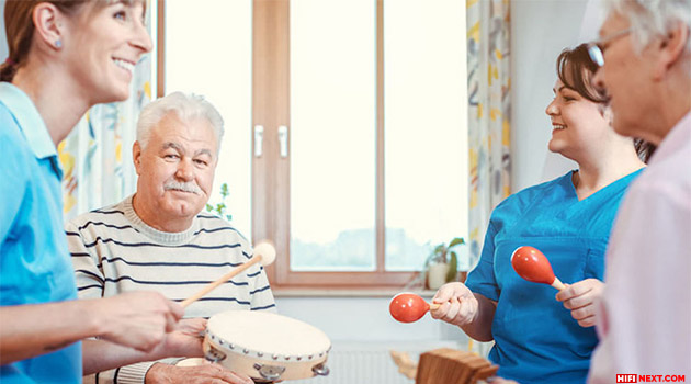 Music therapy affects people with dementia