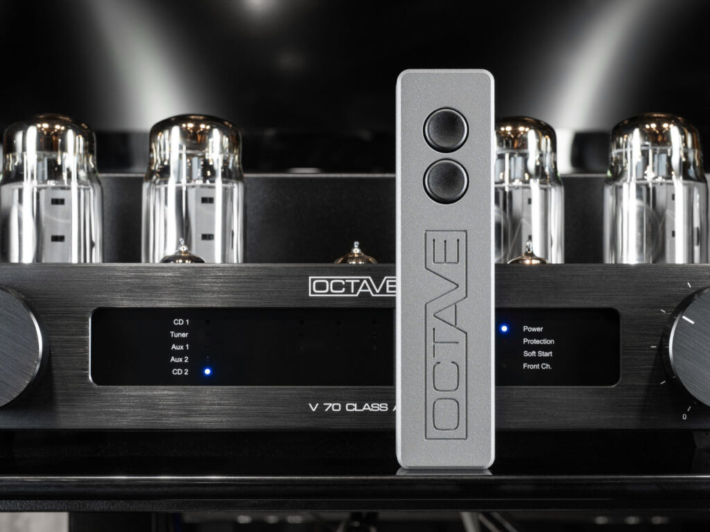 The Octave V70 Class A remote control only allows you to adjust the volume - nothing more