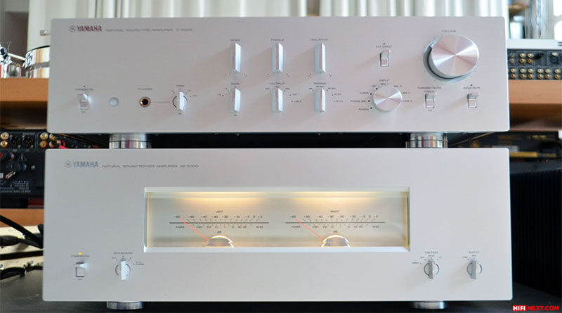 Test of the Yamaha C-5000 preamp and the Yamaha M-5000 power amplifier