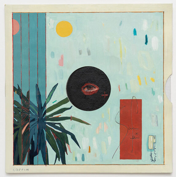 An exhibition of paintings on test-pressing records opened in London