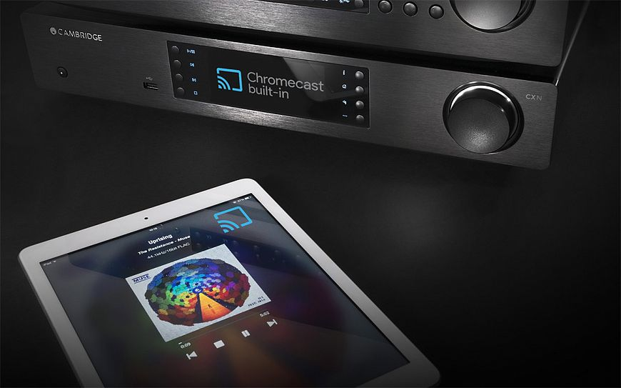 The easiest way is a - Hi-Fi system with digital music streaming