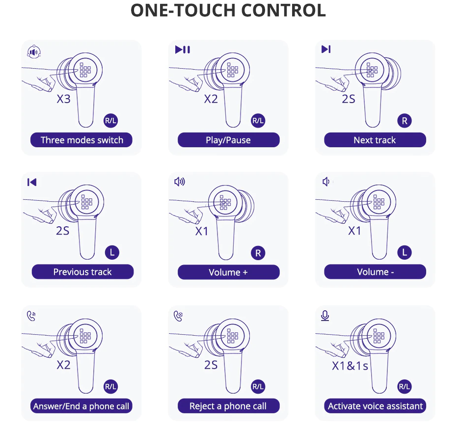 One touch control